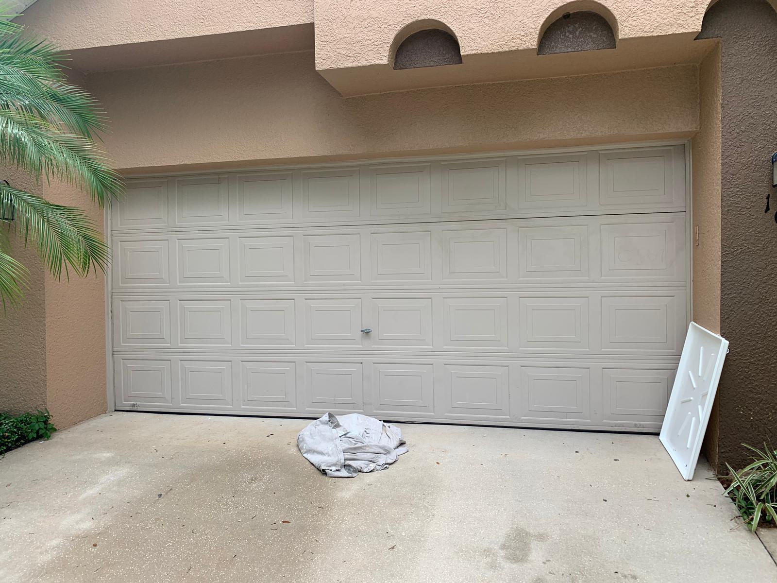 A Shifted Garage Door In Leesburg Fixed